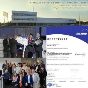 pierwszy certyfikat ISO 9001:2015 w Polsce